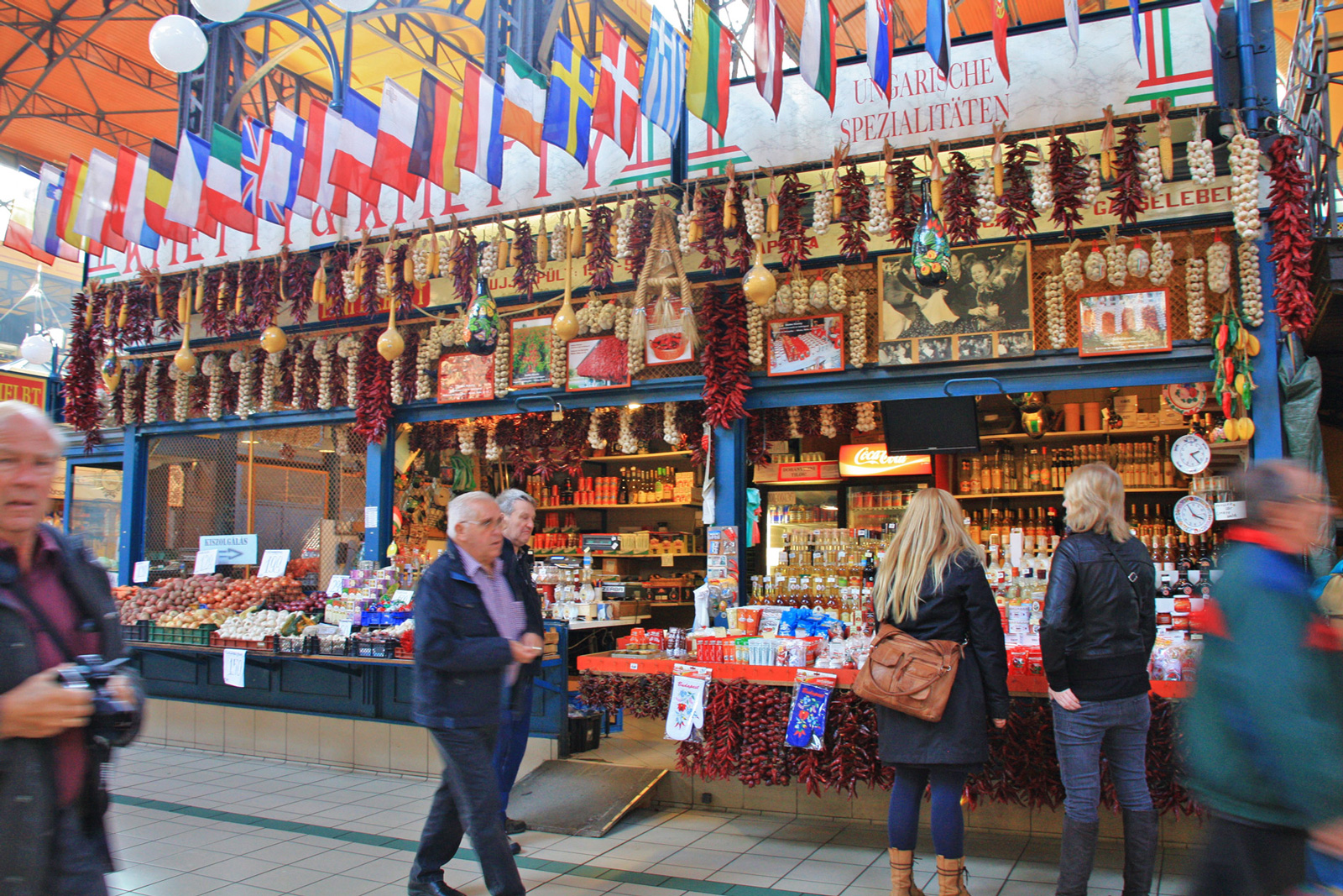 markthalle budapest ungarn