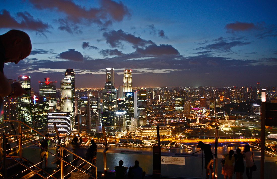 Marina Bay Sands, Singapur,Ausblick