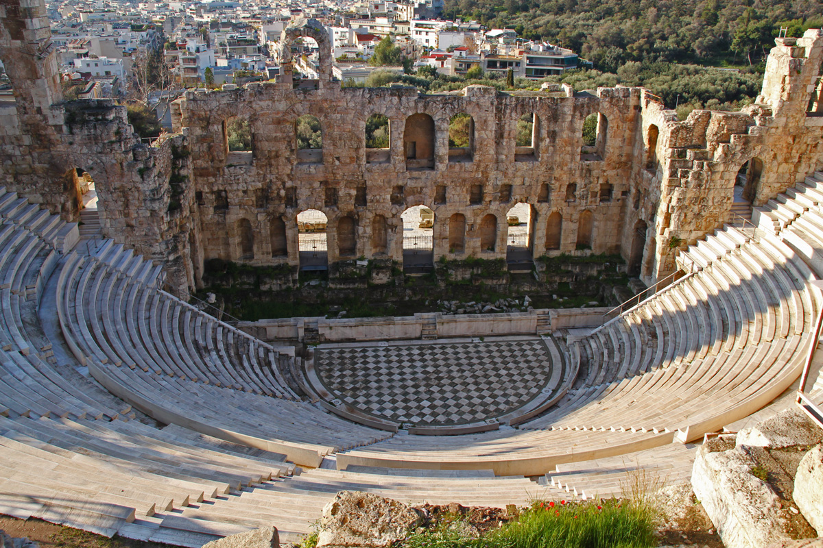 theater antike athen